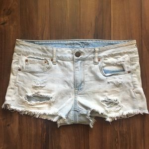 American Eagle Light-Wash Cheeky Jean Shorts